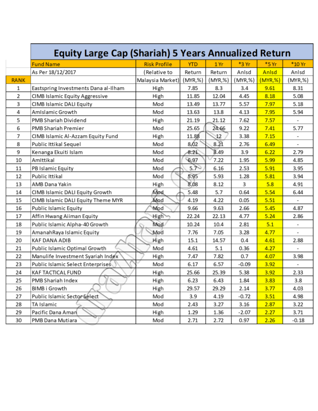 Large Equity 5 Years